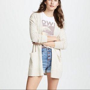 Madewell Summer Ryder Oatmeal Cardigan Sweater